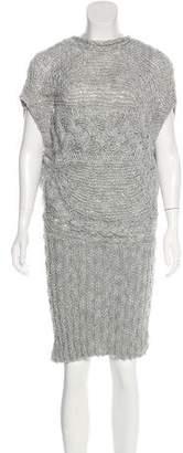 Valentino Open Knit Midi Dress