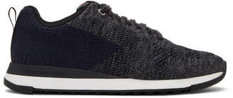 Paul Smith Black and Blue Rapid Sneakers