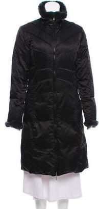 Via Spiga Fur-Trimmed Down Coat