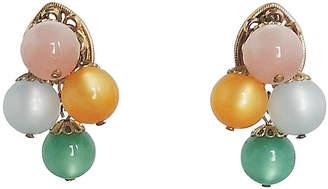 One Kings Lane Vintage 1960s Napier Pastel Moonglow Earrings