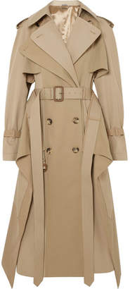 Cotton-garbadine Trench Coat - Beige