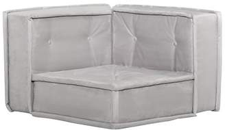 Pottery Barn Teen Cushy Lounge Corner Chair, Faux Suede Light Gray, QS EXEL