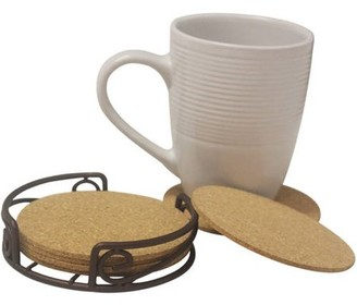 HDS Trading Corp Home Basics Coaster Set, 6-Piece Bronze