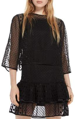 Scotch & Soda Dotted Mesh Party Dress