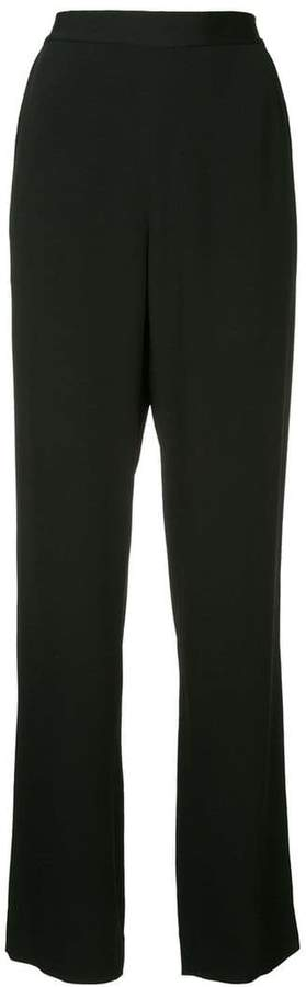 micro pleated high-rise trousers
