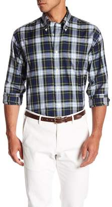 Brooks Brothers Twill Holiday Tartan Print Shirt