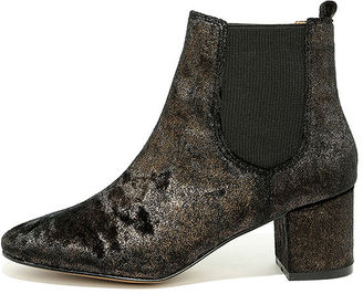 Report Tress Bronze Velvet Ankle Booties $79 thestylecure.com