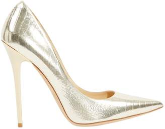 Jimmy Choo Anouk Metallic Leather Heels