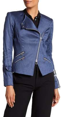 Veronica Beard Sienna Denim Moto Jacket