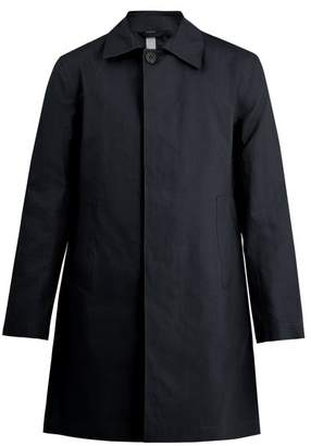 Kilgour Bonded Cotton Water Resistant Overcoat - Mens - Navy