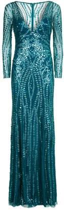 Jenny Packham Solange Sequin V-Neck Gown