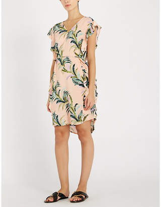 Seafolly Floral-print ruffle-trimmed woven kaftan
