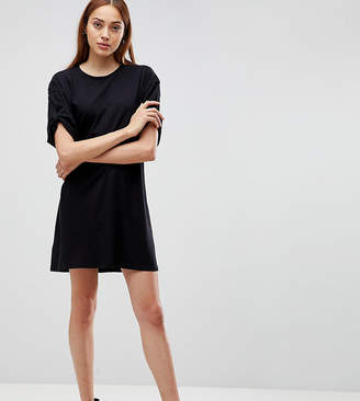 Asos Tall TALL Ultimate Rolled Sleeve T-Shirt Dress With Tab