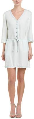 Michael Stars Drawstring Linen-Blend Shirtdress