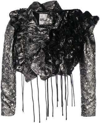 Noir ruffled effect jacket