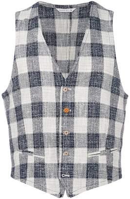 Manuel Ritz checked tweed waistcoat