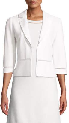St. John Gail Knit 3/4-Sleeve Jacket w/ Insets