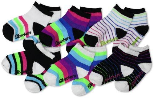 Skechers Little Girls' 6 Pack Infant Anklet
