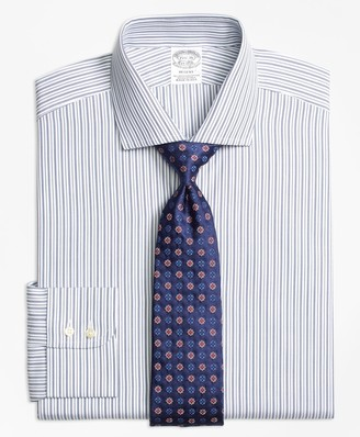 Brooks Brothers Regent Fitted Dress Shirt, Alternating Track Stripe