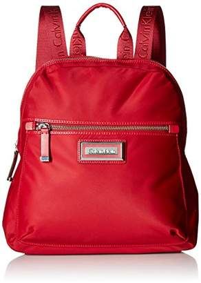 Calvin Klein Women's Belfast Nylon Key Item Zip Around Backpack