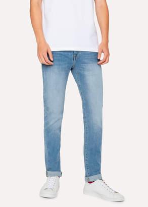 Paul Smith Men's Slim-Fit 12oz 'Authentic Comfort Stretch' Light-Wash Jeans