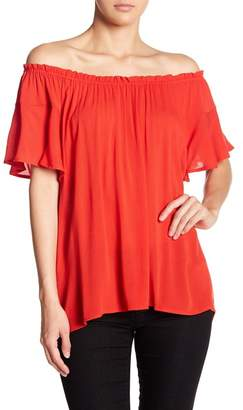 Susina Off-the-Shoulder Short Sleeve Blouse