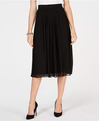 Anne Klein Pleated Midi Skirt