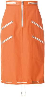 Calvin Klein zipped pencil skirt