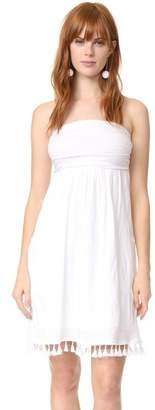 Velvet Tassel Tube Dress