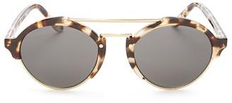 Illesteva Milan II Round Sunglasses, 52mm $300 thestylecure.com