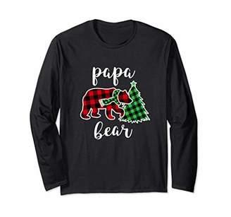 IDEA Papa Bear Shirt Long Sleeve Red Plaid Family Pajama