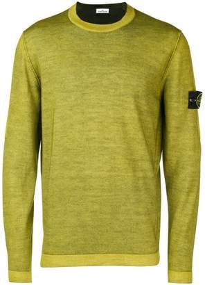 Stone Island Fast Dye + Air Brush knitted sweater