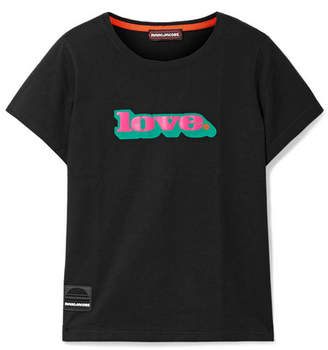 Marc Jacobs Love Printed Cotton-jersey T-shirt - Black