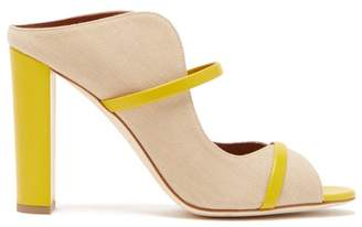 Malone Souliers Norah Canvas And Leather Mules - Womens - Beige