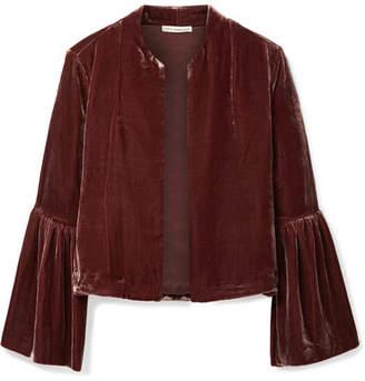 Ulla Johnson Mara Cropped Velvet Jacket - Chocolate