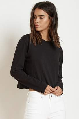Velvet by Graham & Spencer CORDIE COTTON LONG SLEEVE CROP TEE