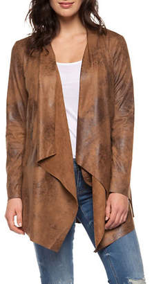 Dex Coated Ultra Faux Suede Over-Piece Jacket