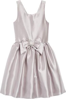 Zunie Satin Bow Dress