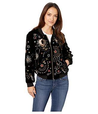 Johnny Was JWLA By Women's Embroidered Bomber Jacket