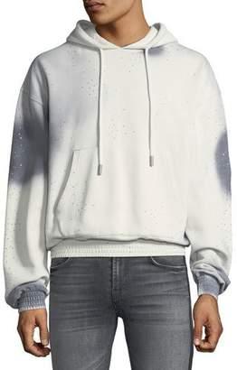Off-White Men's Spray-Over Distressed Hoodie Sweatshirt