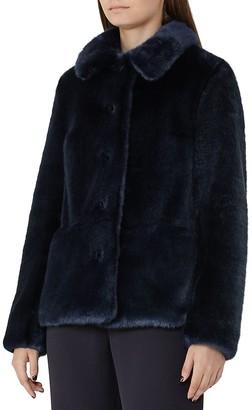 REISS Alexia Faux-Fur Coat $615 thestylecure.com