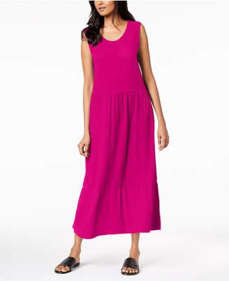 Eileen Fisher Organic Cotton Blend Drop-Waist Maxi Dress, Regular & Petite