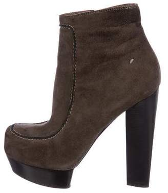 CNC Costume National Suede Platform Booties