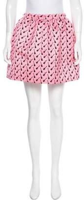 Au Jour Le Jour Printed Mini Skirt