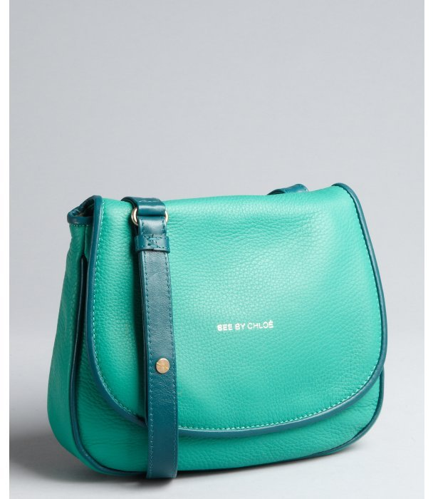 See by Chloe mint leather small crossbody bag