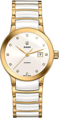 Rado R30080752 Centrix rose gold and ceramic watch