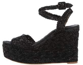 Hermes Braided Wedge Sandals