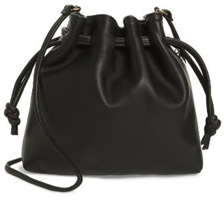Clare V. Petite Henri Leather Bucket Bag - Black $295 thestylecure.com