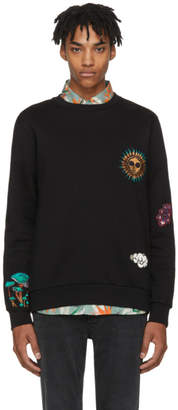 Paul Smith Black Embroidered 1974 Sweatshirt