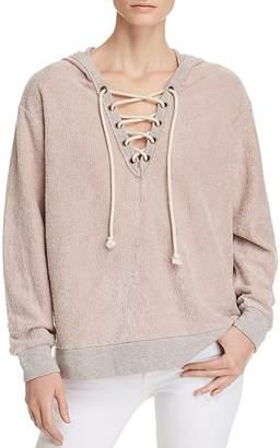 Vintage Havana Lace-Up Hooded Sweatshirt